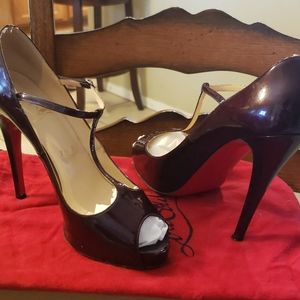 Christian Louboutin patent leather mary Jane heels